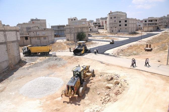 Humanız Mahallesinde asfaltlama çalışması yapıldı