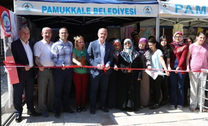"""Pamukkale Belediyesi'nden """"el sanatları"""" sergisi"""