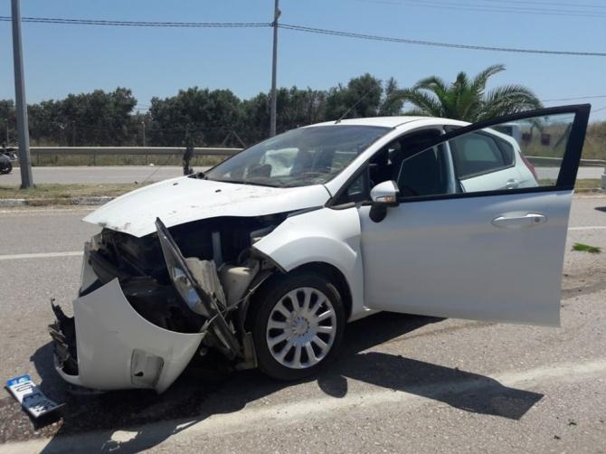Erdek'teki kazada 1 kişi yaralandı