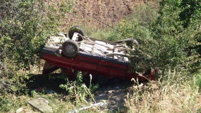 Gediz'de trafik kaza gerçekleşti 2 yaralı