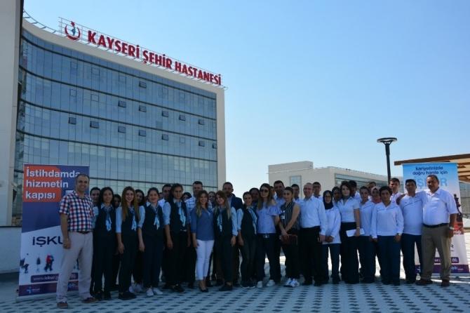 Kayseri Şehir Hastanesine İŞKUR'dan destek
