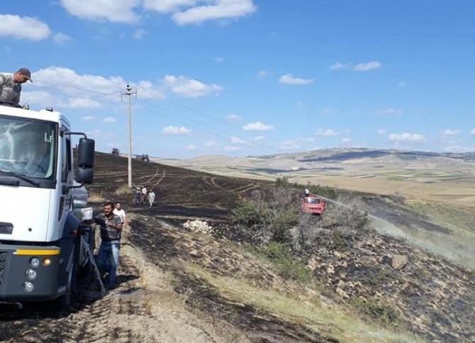 Boğazkale'de tarla yangını