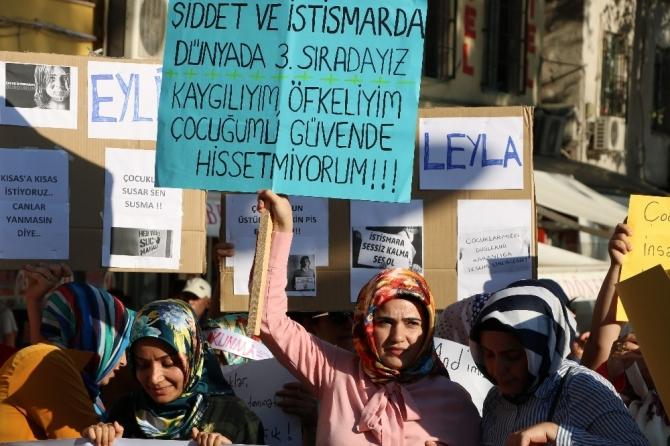 Kahramanmaraş'ta çocuk istismarı protesto edildi