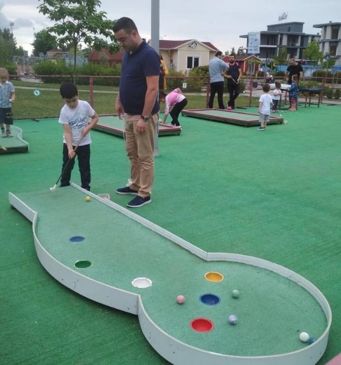 Serdivan Trafik Park'ta golfle tanıştılar