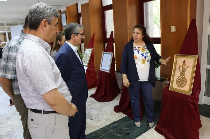 Kahramanmaraş'ta el sanatları sergisi açıldı