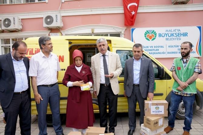 Büyükşehirden savaş mağdurlarına ilaç yardımı