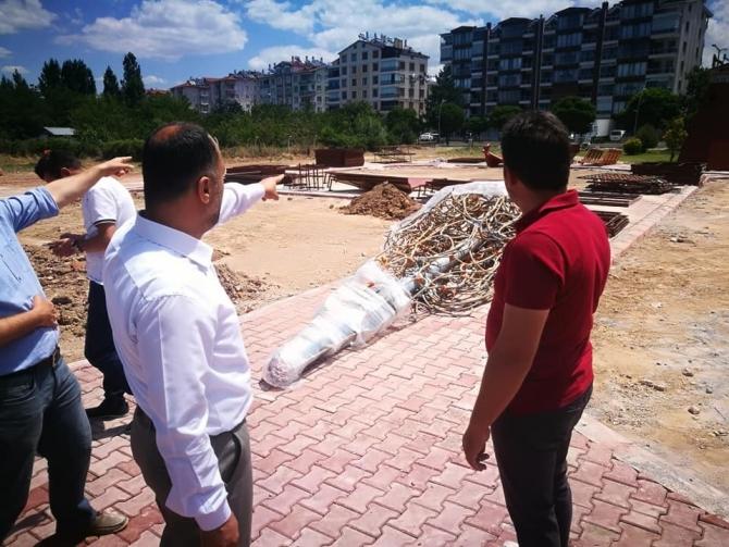 Beyşehir'e yeni yapılan parklar çocukların yeni çekim merkezi olacak