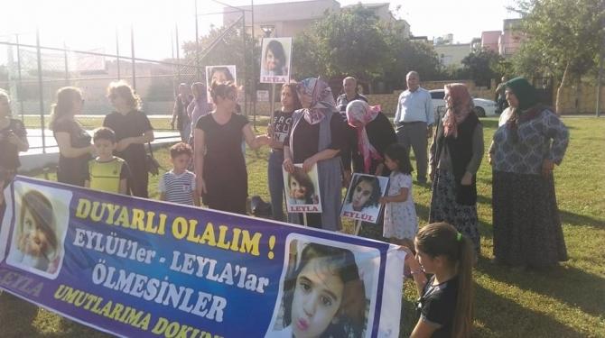 Nurdağı'nda annelerden çocuk cinayetlerine tepki