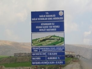 Silvan Devlet Hastanesi inşaatı sona yaklaşıyor