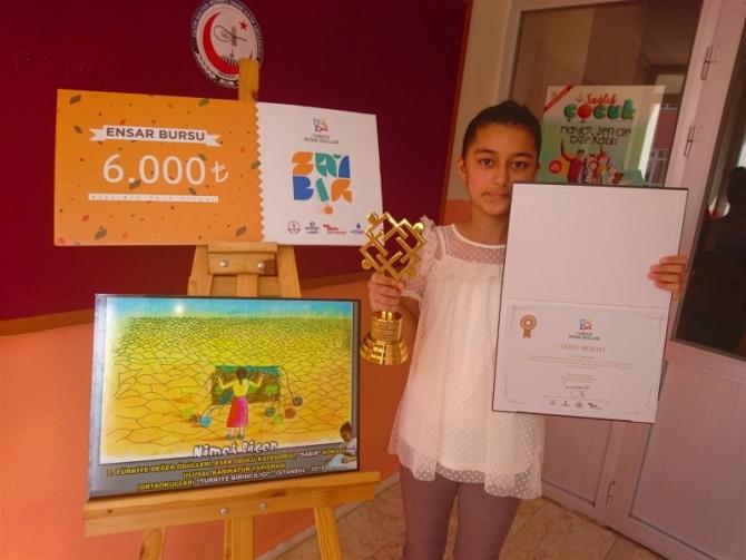 7. sınıf öğrencisi Türkiye birincisi oldu