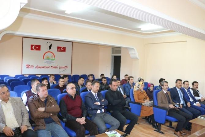 Tarımsal çalışmalar hakkında değerlendirme toplantısı yapıldı