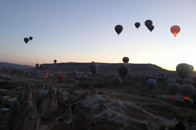 Kapadokya bölgesini Ekim ayında 324 bin 375 turist ziyaret etti