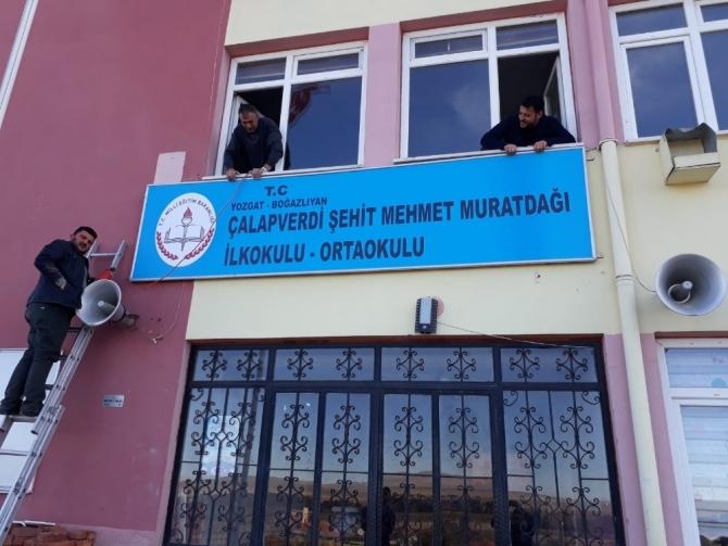 Şehit Muratdağı'nın ismi okulda yaşatılacak