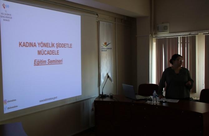 Kadına Yönelik Şiddetle Mücadele eğitim semineri
