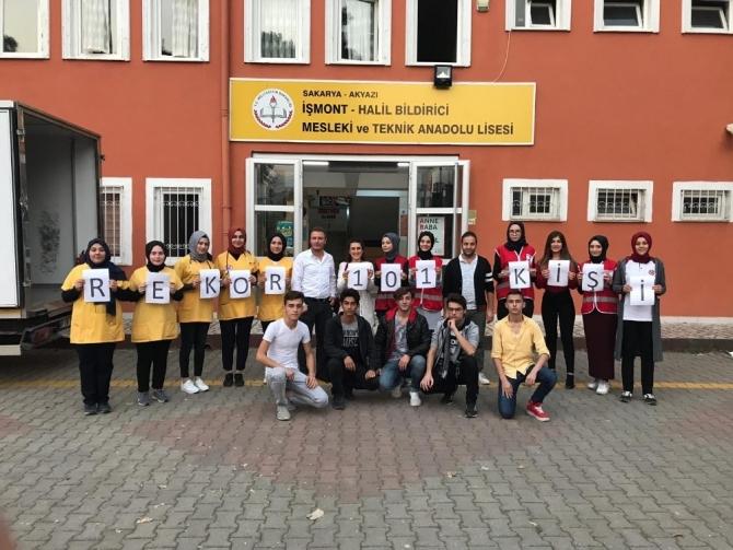 Akyazı'da 3 okul kan bağışı etkinliği düzenledi