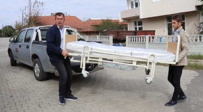 Ergene Belediyesinden ihtiyacı olanlara hasta yatağı