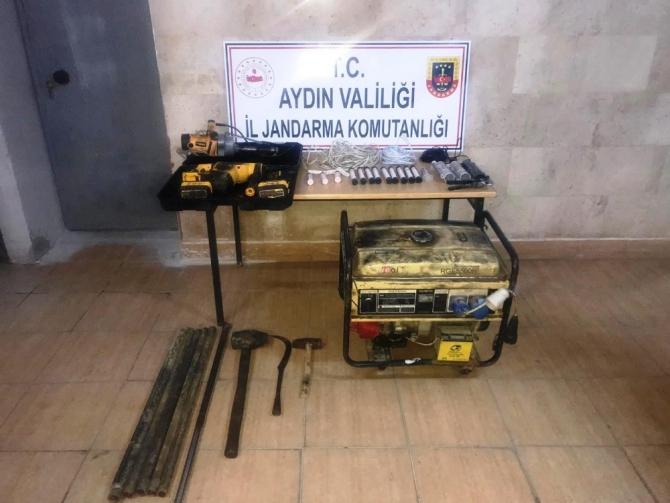 Germencik'te kaçak kazı operasyonu: 6 gözaltı