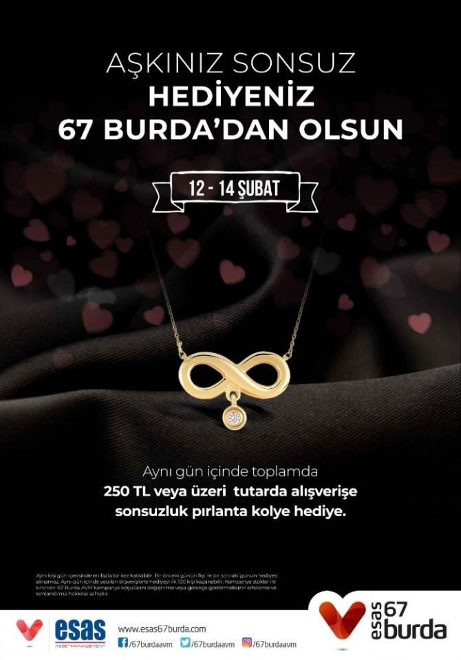 'Aşkınız Sonsuz Hediyeniz 67 Burda'dan olsun'