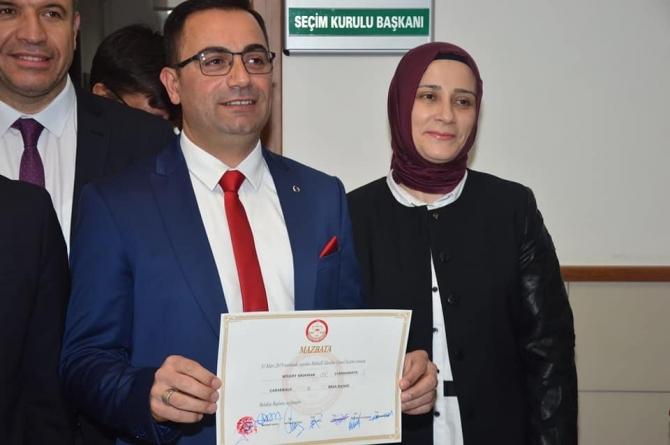 Bülent Erdoğan mazbatasını aldı