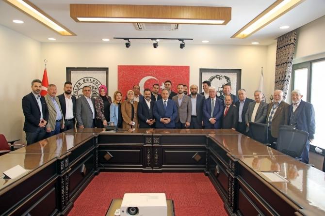 Başkan Yalçın'a MHP ve AK Parti'den ziyaret