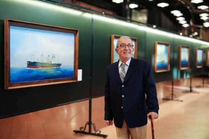 Ressam Haslet Soyöz'den yeni sergi: 'Türk Armatörlerinin Buharlı Gemileri'