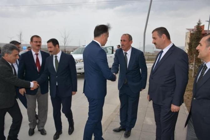 """Vali Çağatay'dan Başkan Geylani'ye """"hayırlı olsun"""" ziyareti"""