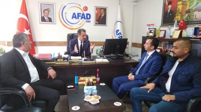 AFAD-SEN Genel Başkanı Çelik'ten Siirt ziyareti