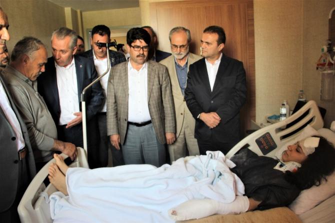 HAK-İŞ Genel Sekreteri Yıldız yaralıları ziyaret etti