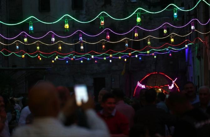 Nablus'ta Ramazan sevinci