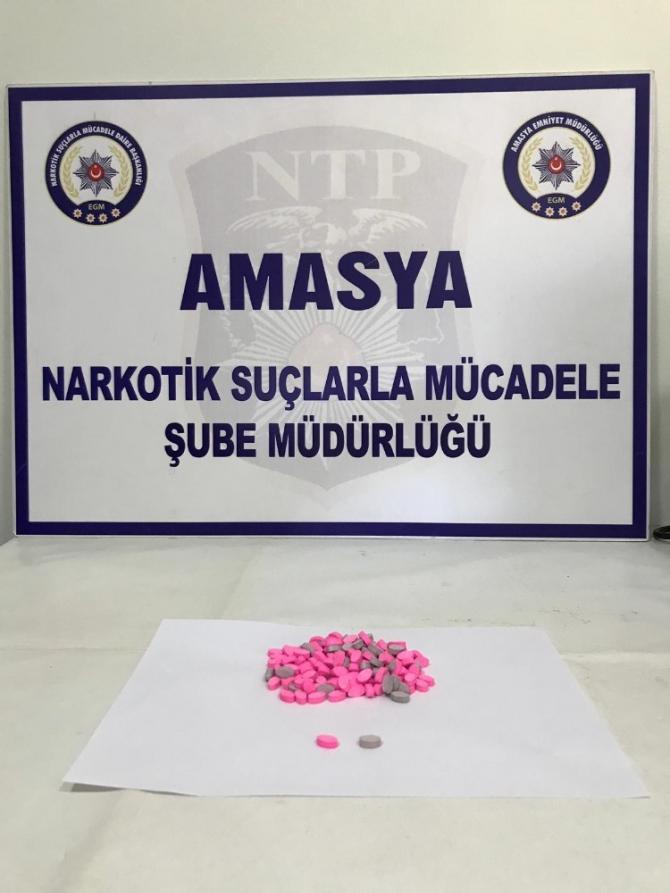 Amasya'da uyuşturucu operasyonu: 4 gözaltı