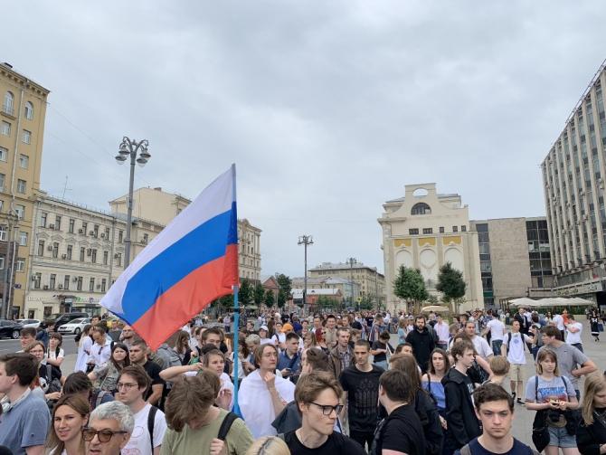 Rus gazeteciye destek mitinginde 150'ye yakın gözaltı