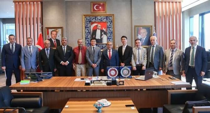 Çin Heyeti Belediye Başkanı Işık'ı ziyaret etti
