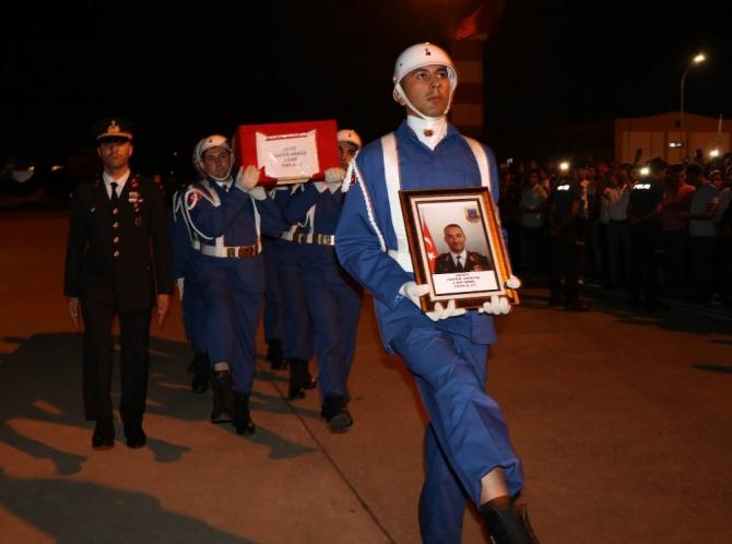 Şehit binbaşının cenazesi Samsun'a getirildi