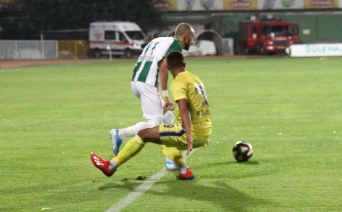 Spor Toto 1. Lig: Giresunspor: 1 - Menemenspor: 0 (İlk Yarı)