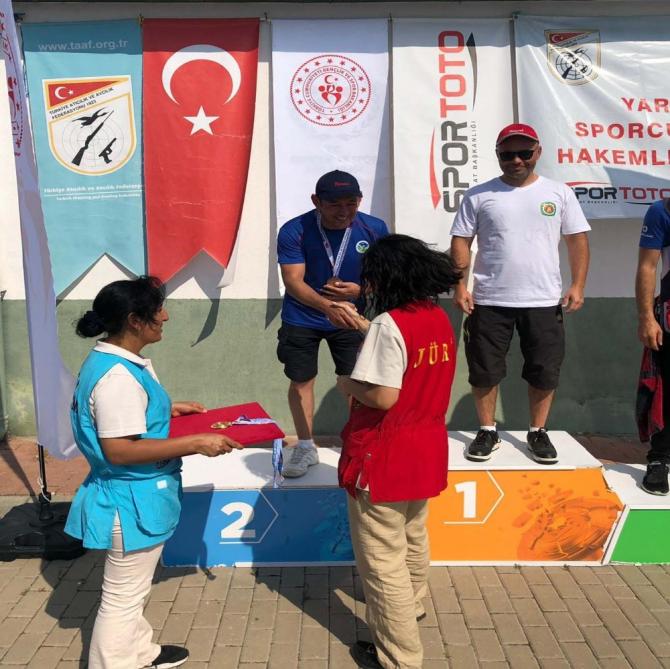 Sakarya Büyükşehirli sporcu, atıcılıkta Türkiye ikincisi oldu