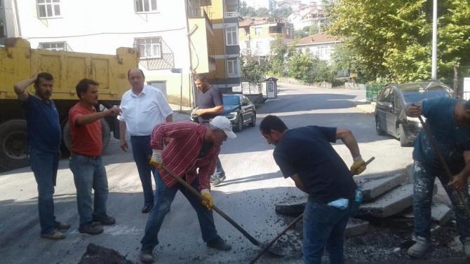 Gülüç Belediyesi selin yaralarını sarıyor