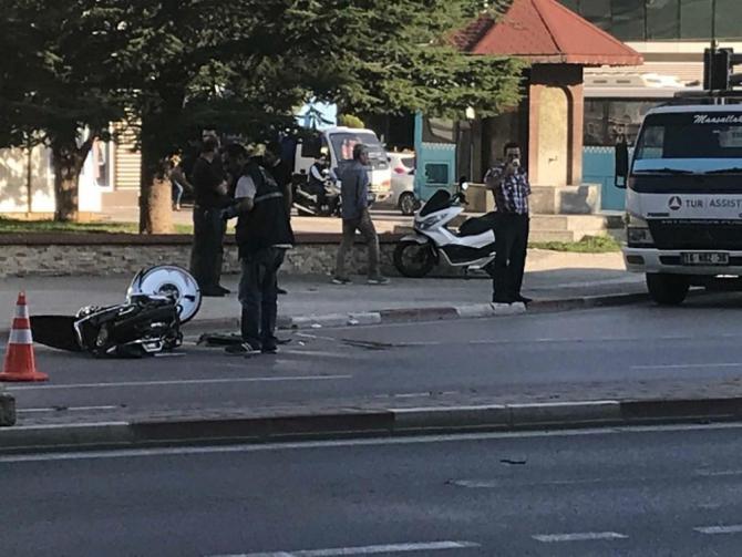 Motosiklet sürücüsü genç hayatını kaybetti!