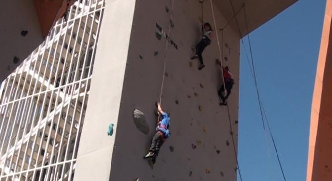Kütahya'da Spor Tırmanış Küçükler ve Gençler 30 Ağustos Zafer Kupası Lider Yarışması