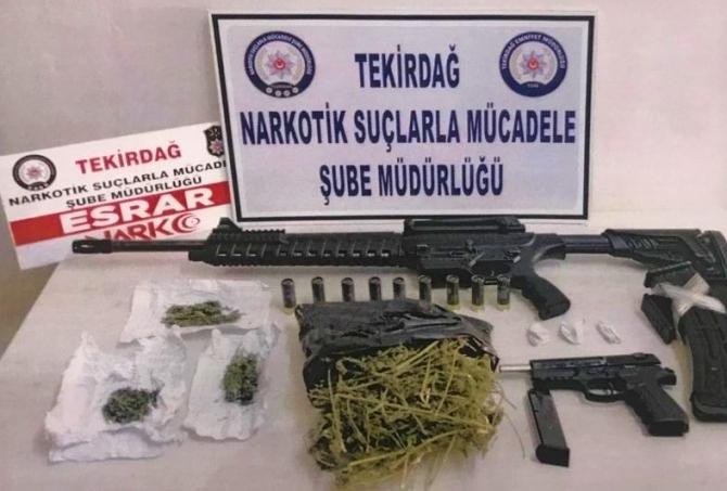 Tekirdağ'ın 4 ilçesinde uyuşturucu operasyonu: 15 gözaltı