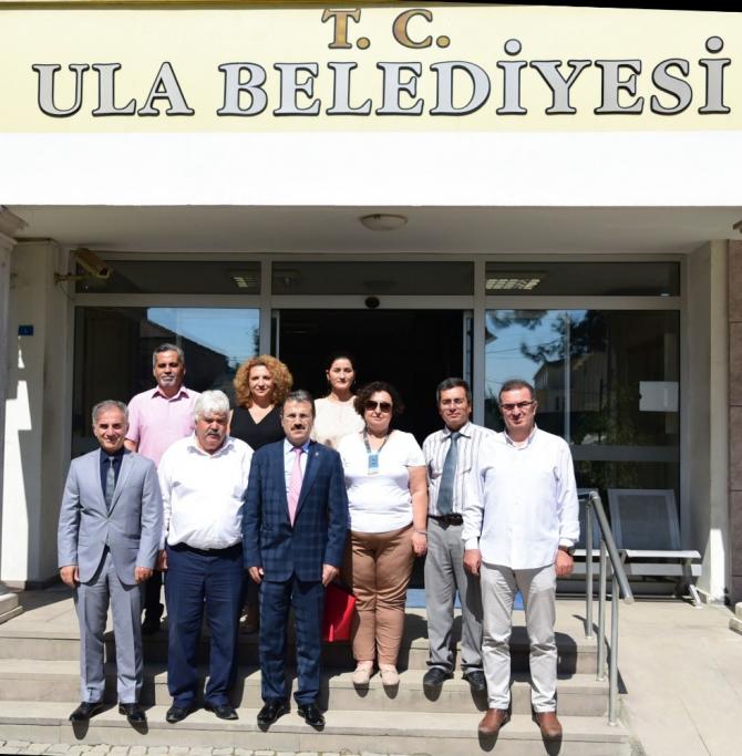 Üniversite yönetiminden Ula Belediye Başkanı Akkaya'ya ziyaret