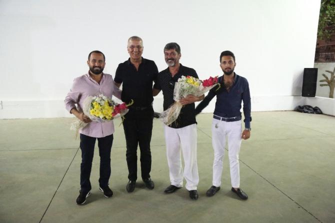 Mezitli'de yazlık sinema ünlü oyuncuları ağırladı