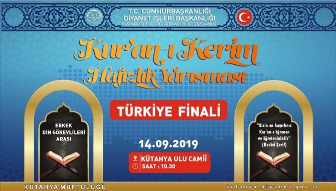 Hafızlık Yarışması Türkiye Finali Kütahya'da