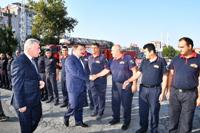 Başkan Gürkan, İtfaiye personelleri ile bir araya geldi