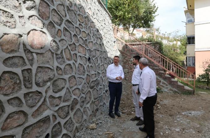 Başkan Işıksu, Karaman Mahallesinde incelemelerde bulundu