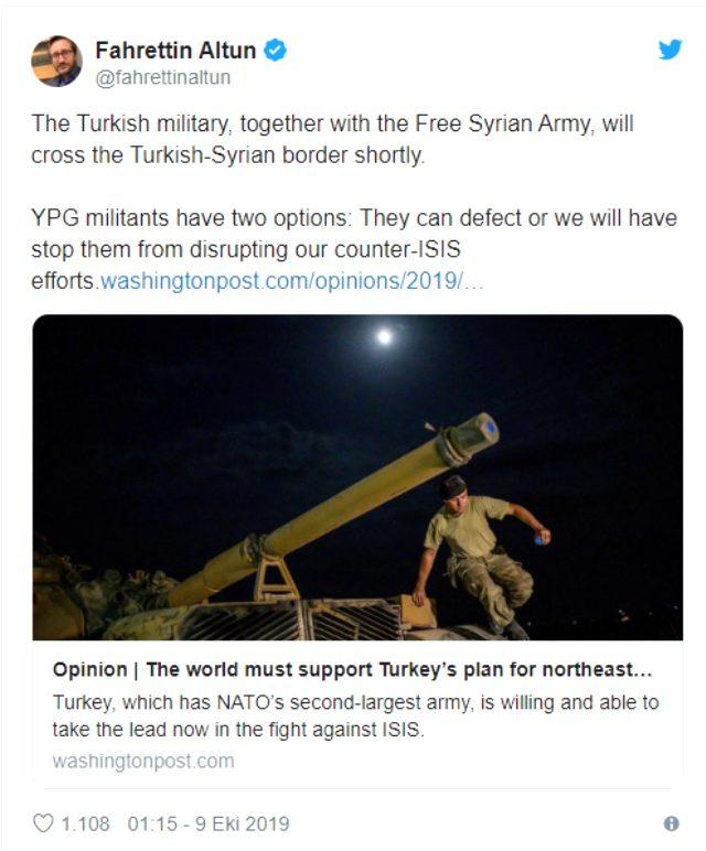 İletişim Başkanı Altun duyurdu: Suriye sınırı ÖSO ile geçilecek!