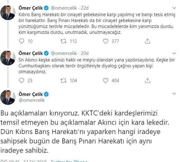 AK Parti'den KKTC Cumhurbaşkanı Mustafa Akıncı'ya sert tepki!