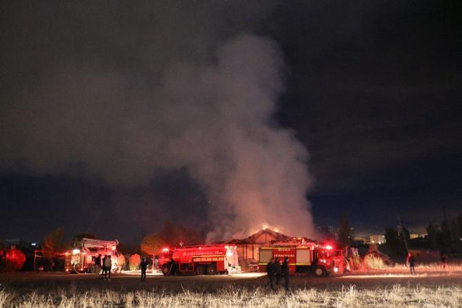 At çiftliğinde yangın