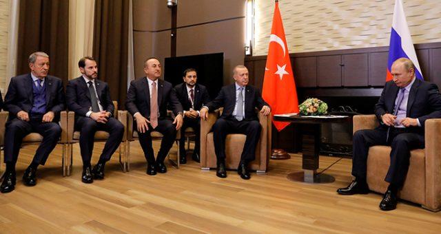 Erdoğan ve Putin'den Soçi'de düzlenen basın toplantısında açıklamalar