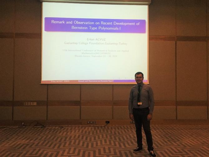 GKV'li Dr. Erkan Ağyüz 'Uluslararası Matematik Konferansı'nda