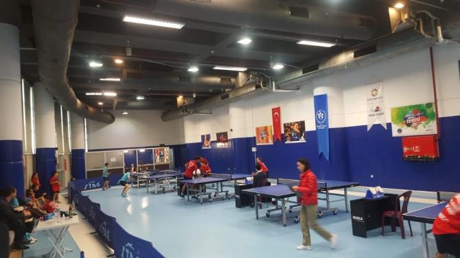 29 Ekim Cumhuriyet Kupası Masa Tenisi Müsabakaları Başladı
